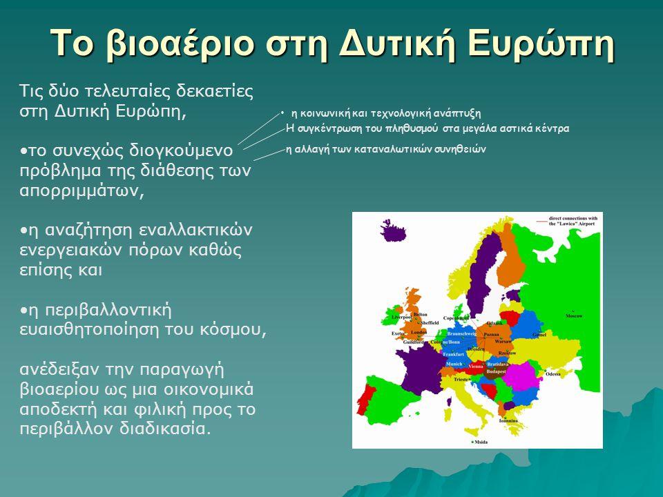 Το βιοαέριο στη Δυτική Ευρώπη