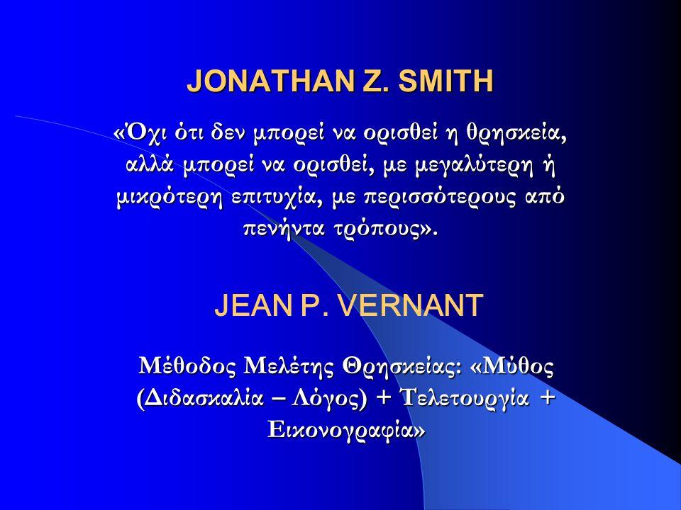 JONATHAN Z. SMITH JEAN P. VERNANT