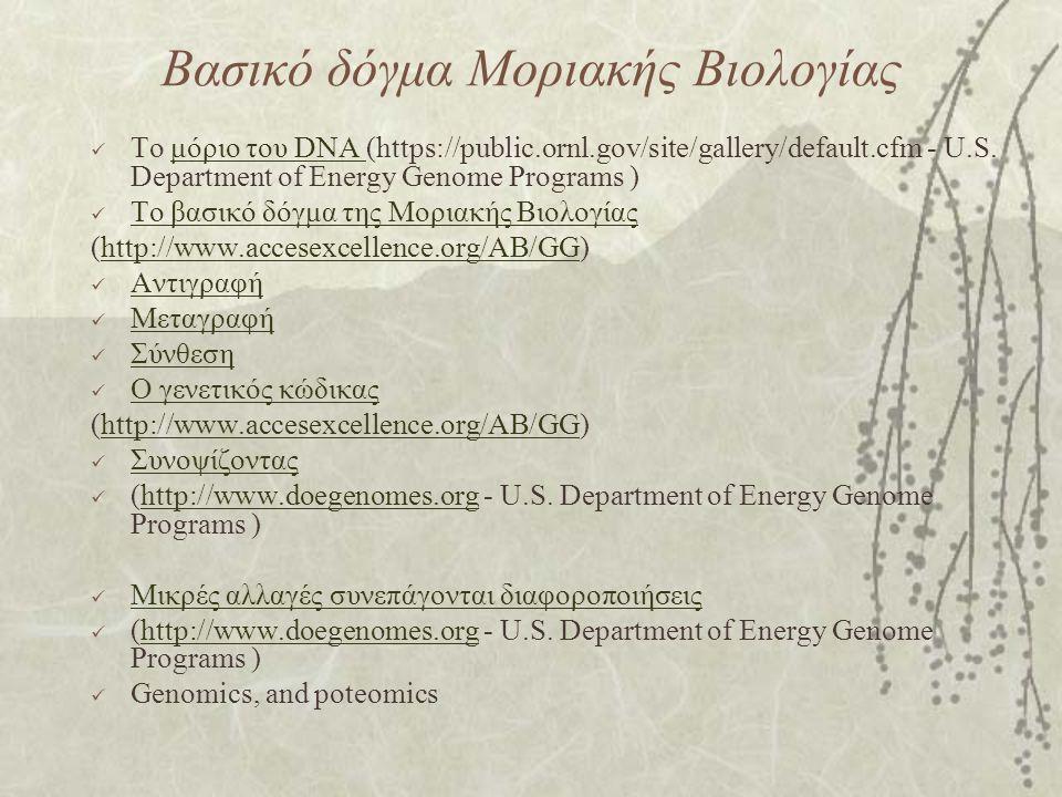 Βασικό δόγμα Μοριακής Βιολογίας
