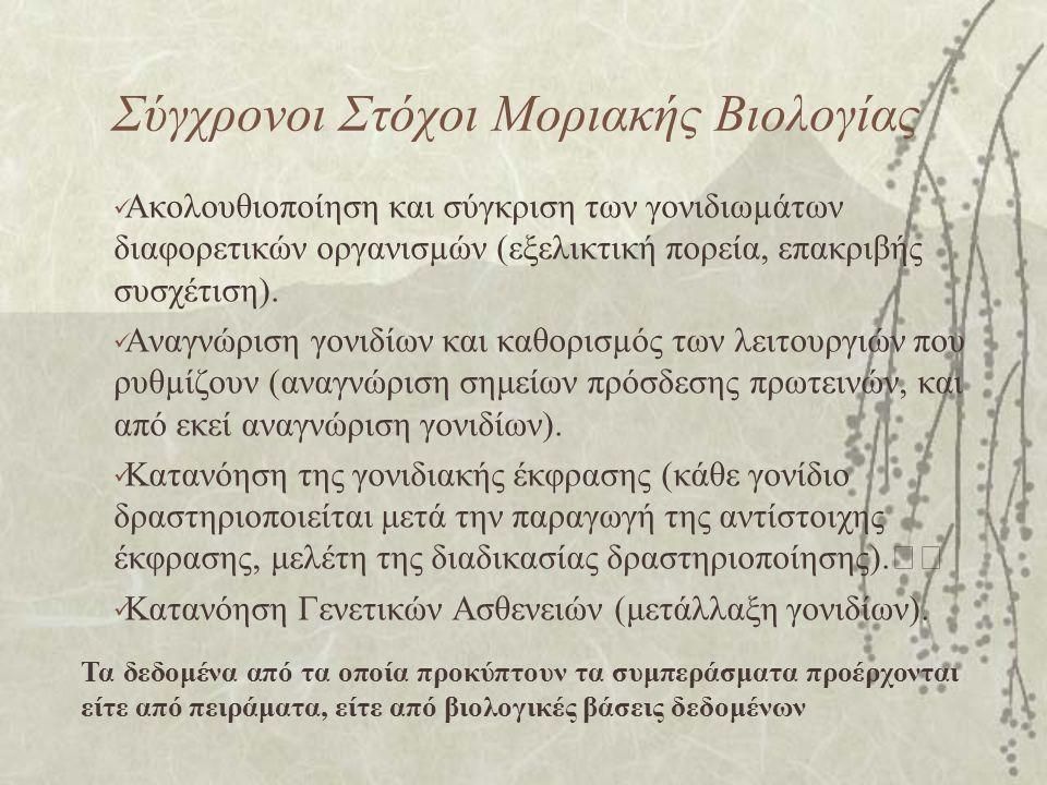 Σύγχρονοι Στόχοι Μοριακής Βιολογίας