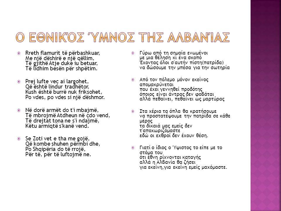 Ο εθνικός ύμνος της Αλβανίας
