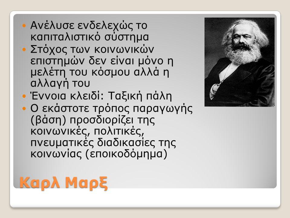 Καρλ Μαρξ Ανέλυσε ενδελεχώς το καπιταλιστικό σύστημα