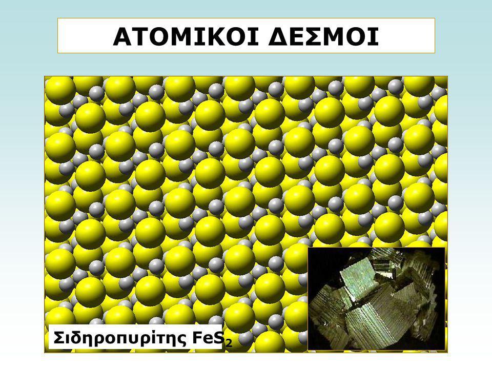 ΑΤΟΜΙΚΟΙ ΔΕΣΜΟΙ Σιδηροπυρίτης FeS2