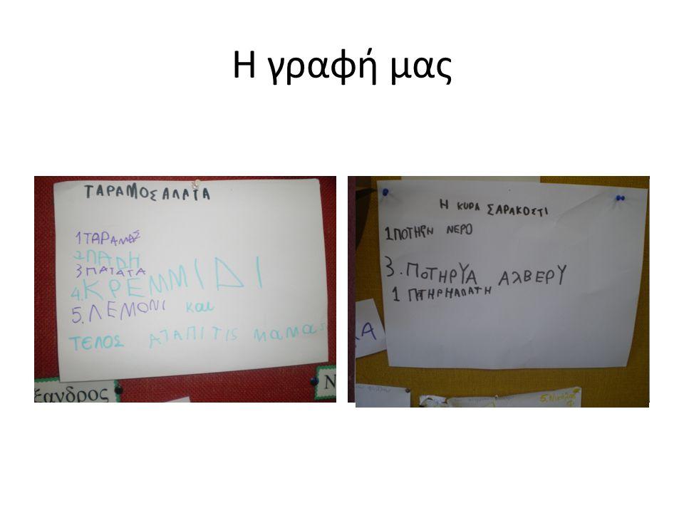 Η γραφή μας