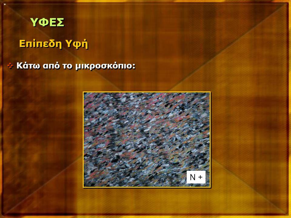 ΥΦΕΣ Επίπεδη Υφή Κάτω από το μικροσκόπιο: Ν +