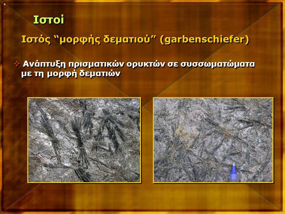 Ιστοί Ιστός μορφής δεματιού (garbenschiefer)