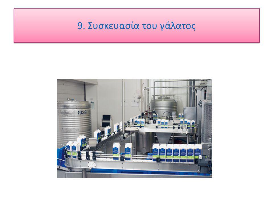 9. Συσκευασία του γάλατος