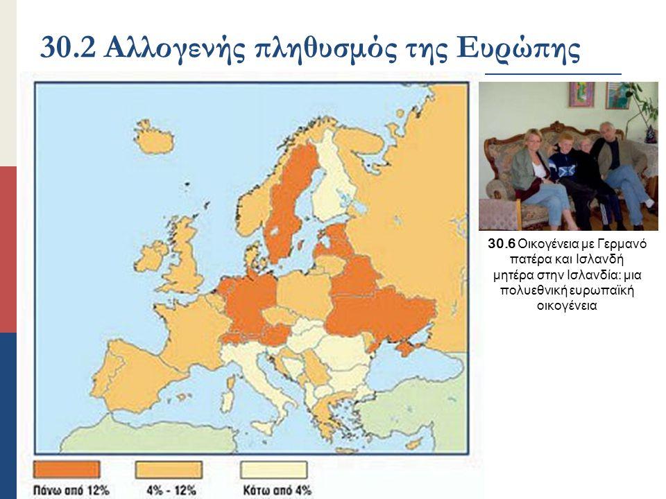30.2 Αλλογενής πληθυσμός της Ευρώπης