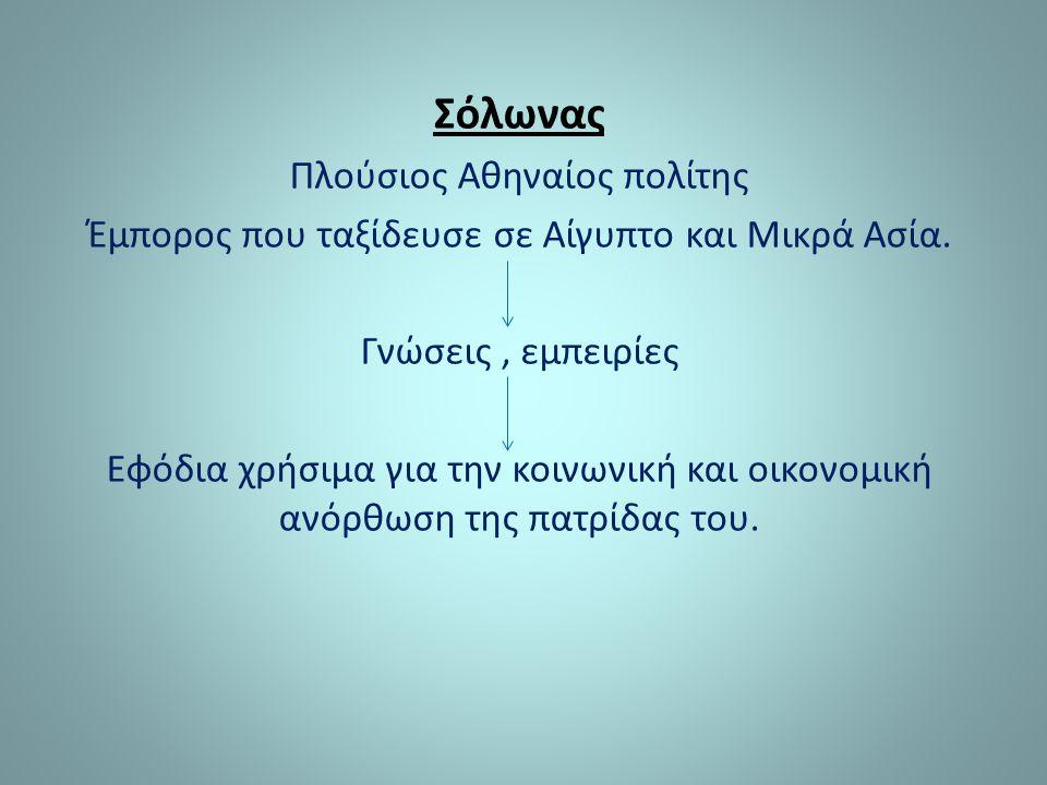 Σόλωνας Πλούσιος Αθηναίος πολίτης