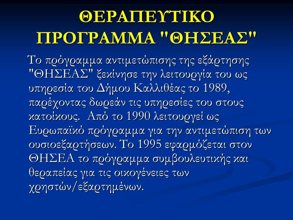 ΘΕΡΑΠΕΥΤΙΚΟ ΠΡΟΓΡΑΜΜΑ ΘΗΣΕΑΣ