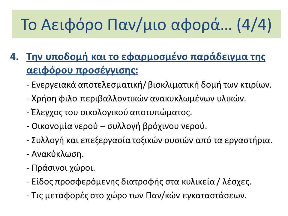 Το Αειφόρο Παν/μιο αφορά… (4/4)