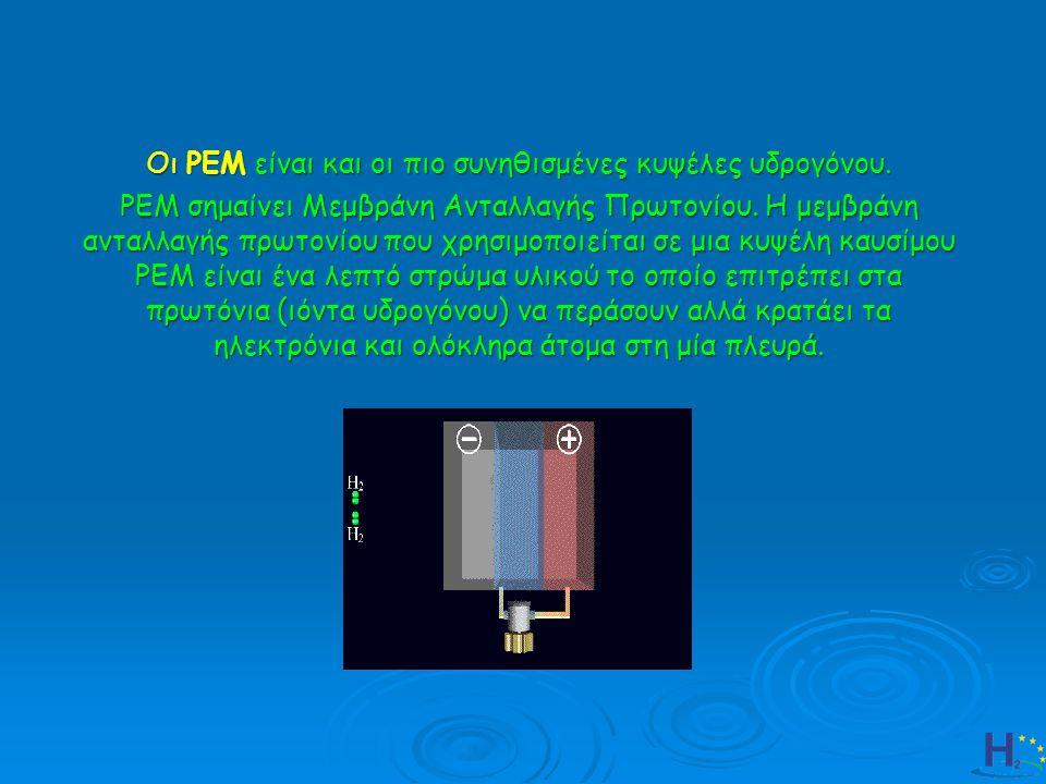 Οι ΡΕΜ είναι και οι πιο συνηθισμένες κυψέλες υδρογόνου.