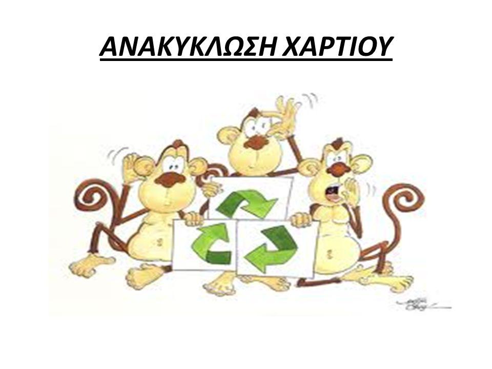 ΑΝΑΚΥΚΛΩΣΗ ΧΑΡΤΙΟΥ