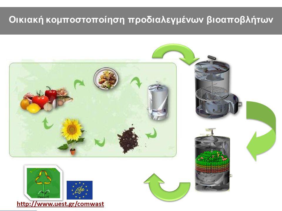 Οικιακή κομποστοποίηση προδιαλεγμένων βιοαποβλήτων