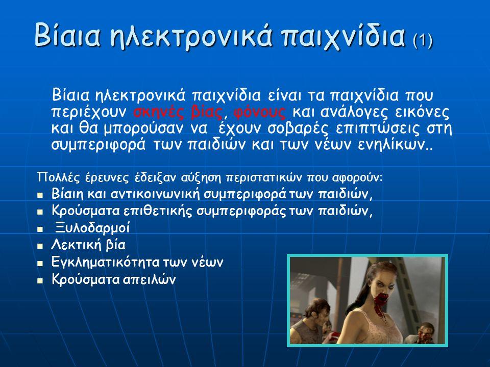 Βίαια ηλεκτρονικά παιχνίδια (1)