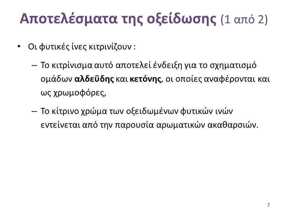 Αποτελέσματα της οξείδωσης (2 από 2)