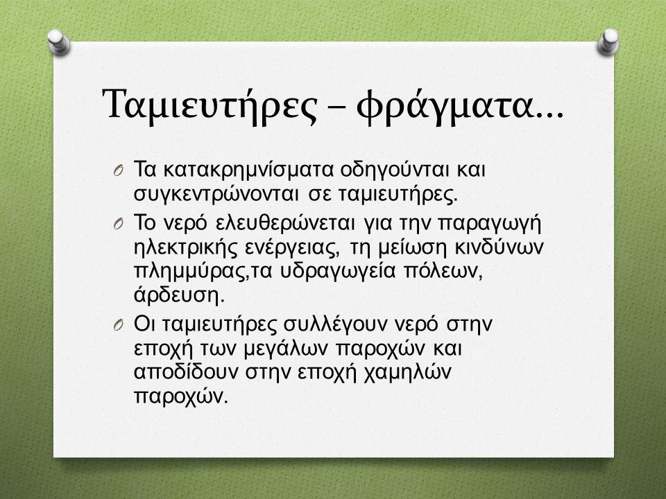 Ταμιευτήρες – φράγματα...