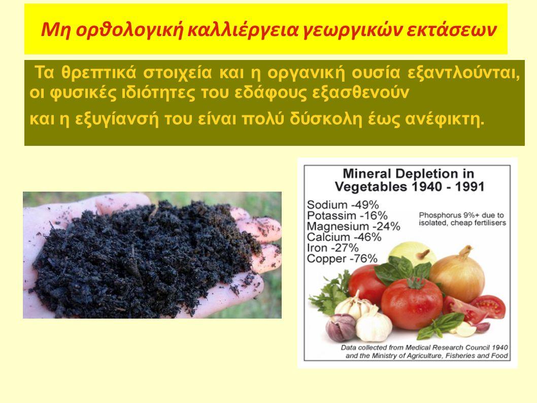 Μη ορθολογική καλλιέργεια γεωργικών εκτάσεων