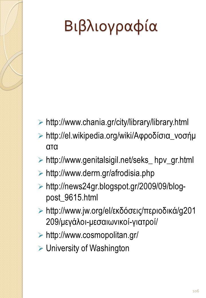 Βιβλιογραφία http://www.chania.gr/city/library/library.html