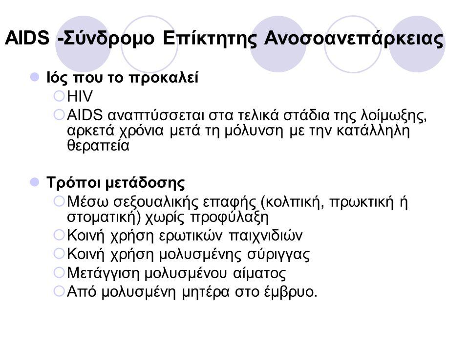 AIDS -Σύνδρομο Επίκτητης Ανοσοανεπάρκειας