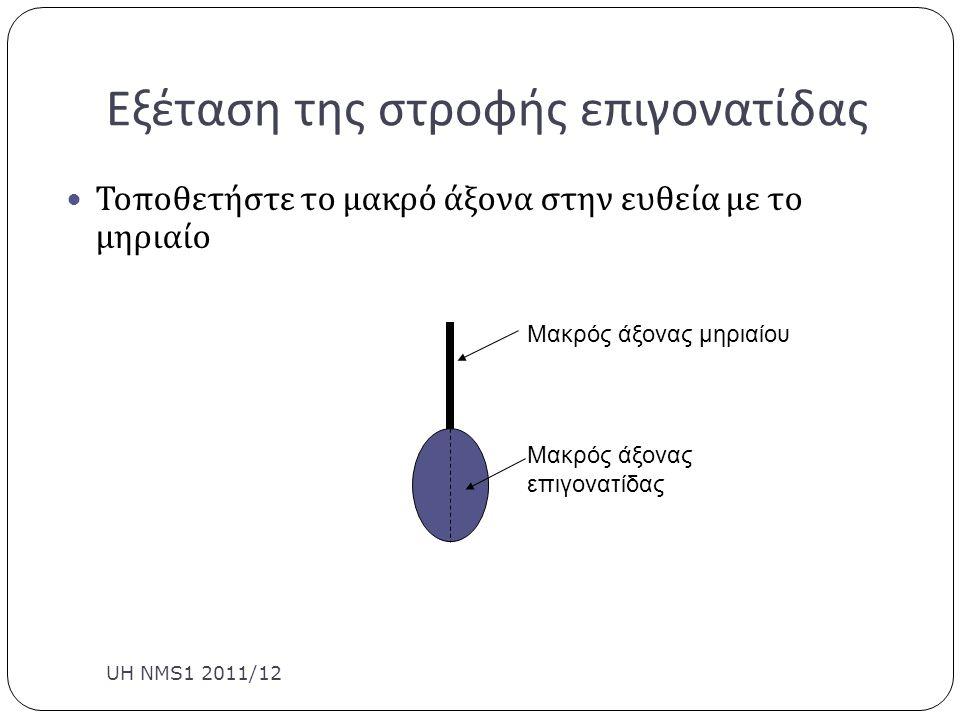 Εξέταση της στροφής επιγονατίδας