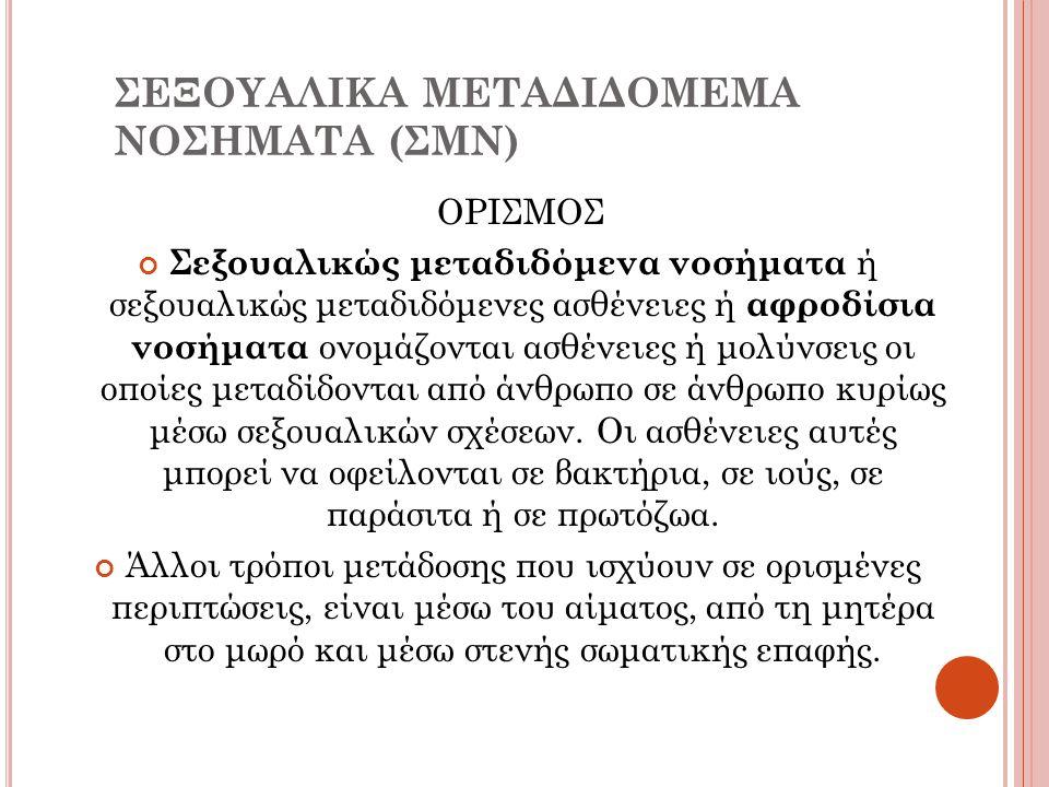 ΣΕΞΟΥΑΛΙΚΑ ΜΕΤΑΔΙΔΟΜΕΜΑ ΝΟΣΗΜΑΤΑ (ΣΜΝ)