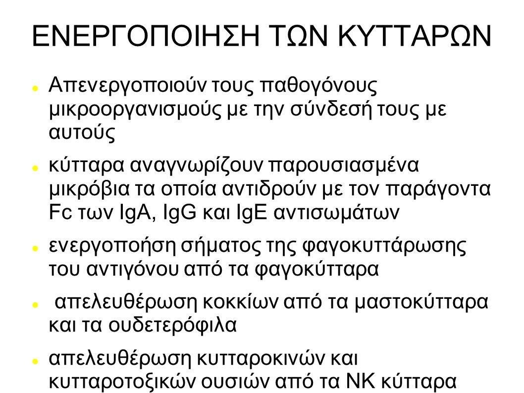 ΕΝΕΡΓΟΠΟΙΗΣΗ ΤΩΝ ΚΥΤΤΑΡΩΝ