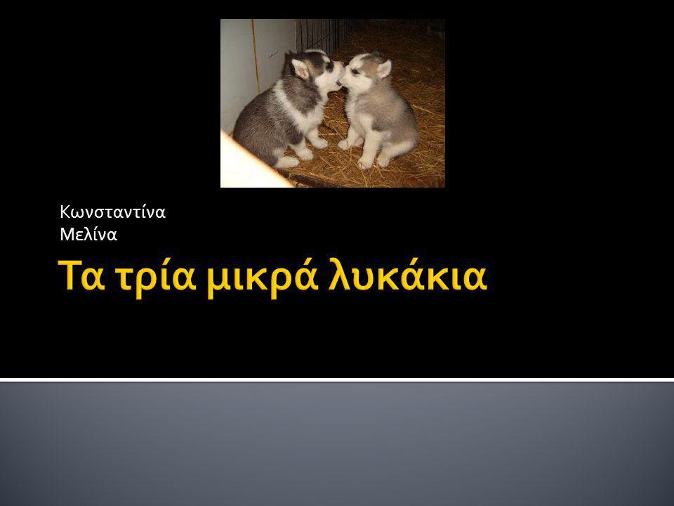 Κωνσταντίνα Μελίνα Τα τρία μικρά λυκάκια