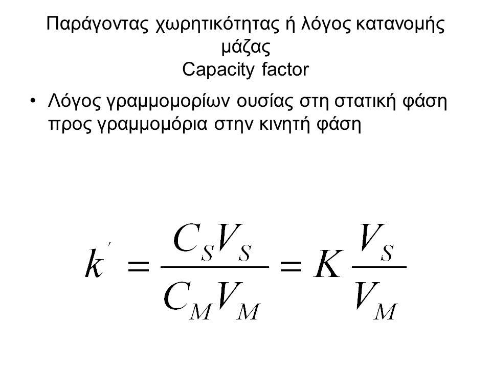 Παράγοντας χωρητικότητας ή λόγος κατανομής μάζας Capacity factor