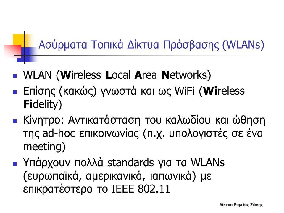 Ασύρματα Τοπικά Δίκτυα Πρόσβασης (WLANs)