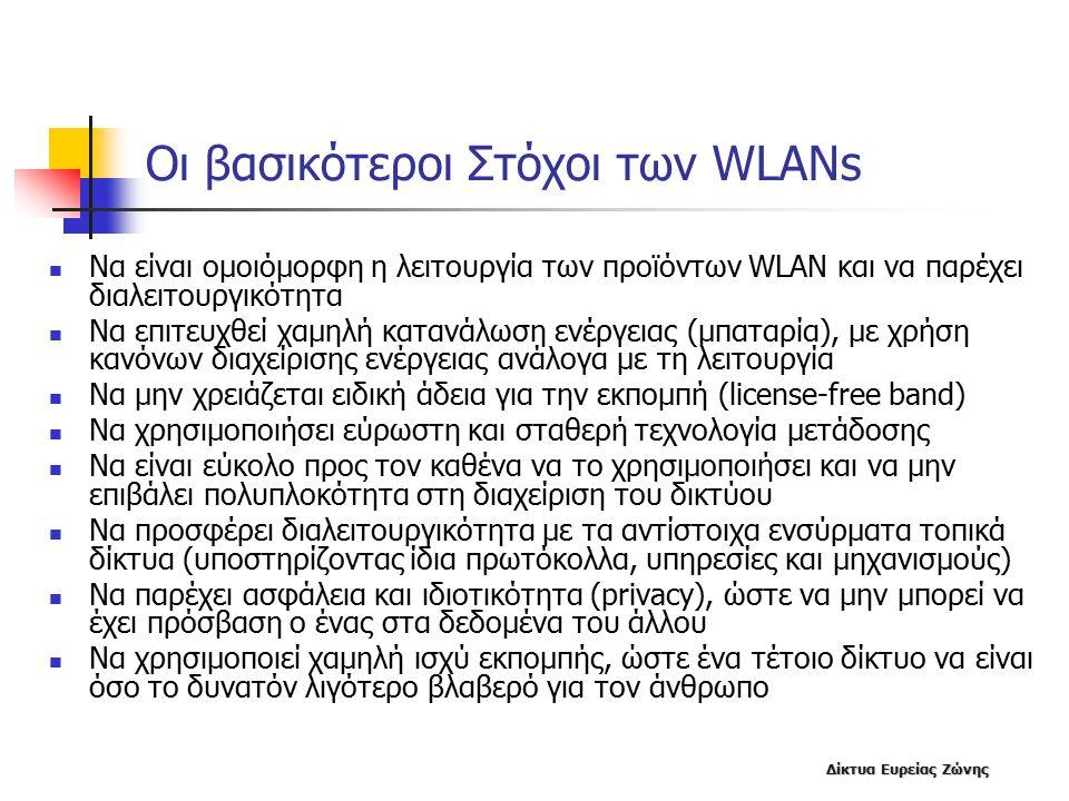 Οι βασικότεροι Στόχοι των WLANs