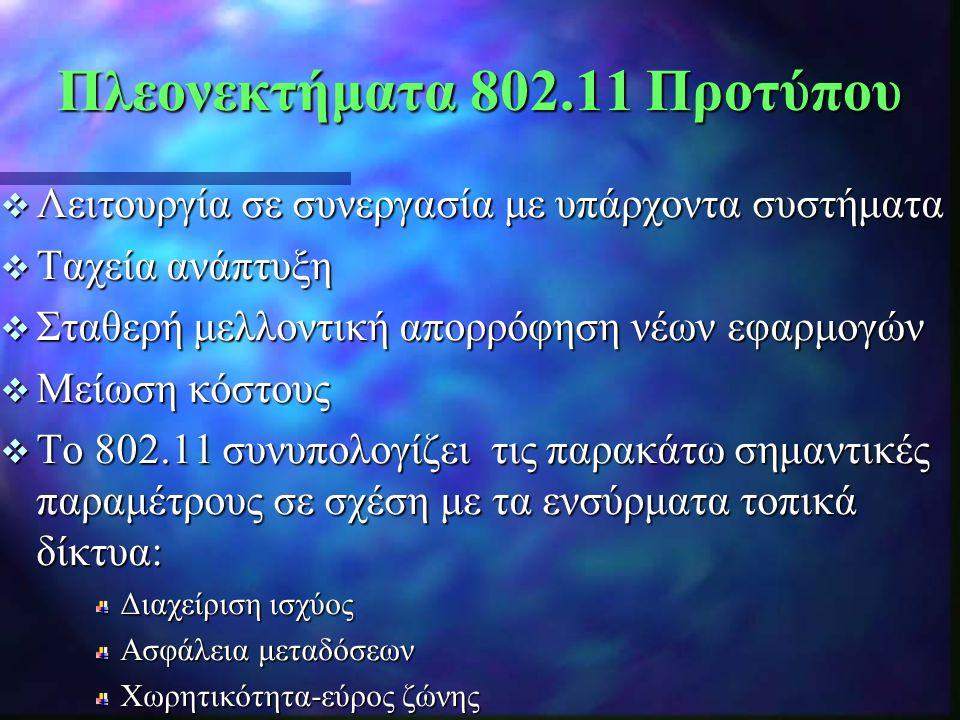 Πλεονεκτήματα 802.11 Προτύπου
