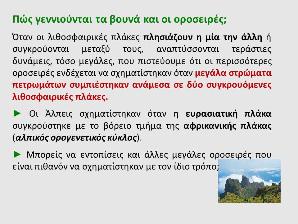 Πώς γεννιούνται τα βουνά και οι οροσειρές;