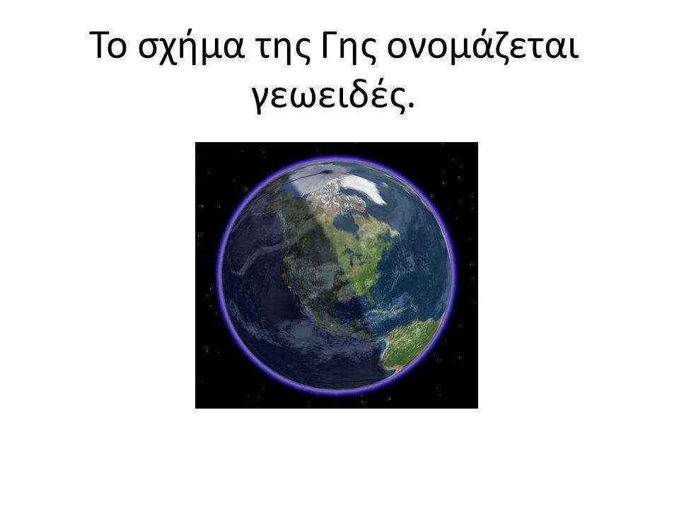 Το σχήμα της Γης ονομάζεται γεωειδές.
