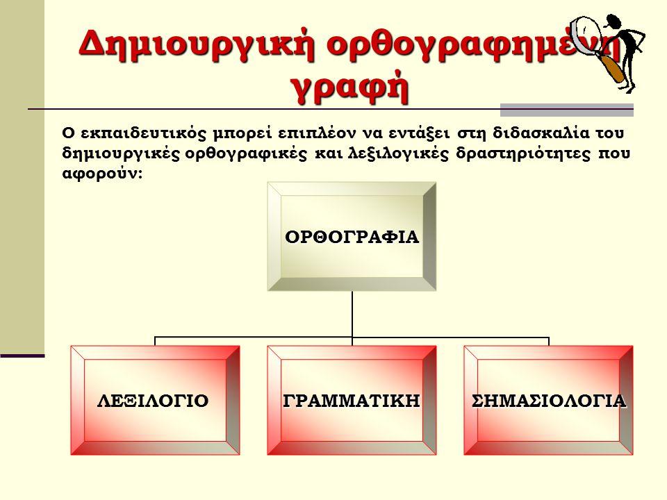 Δημιουργική ορθογραφημένη γραφή