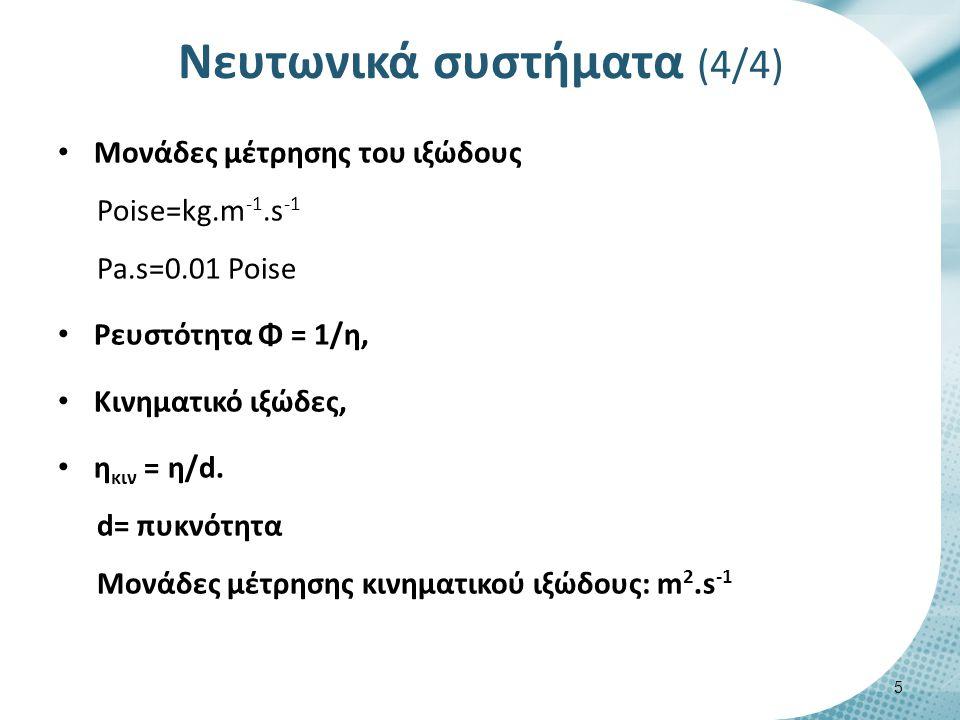 Προσδιορισμός του ιξώδους στα νευρωνικά συστήματα (1/2)