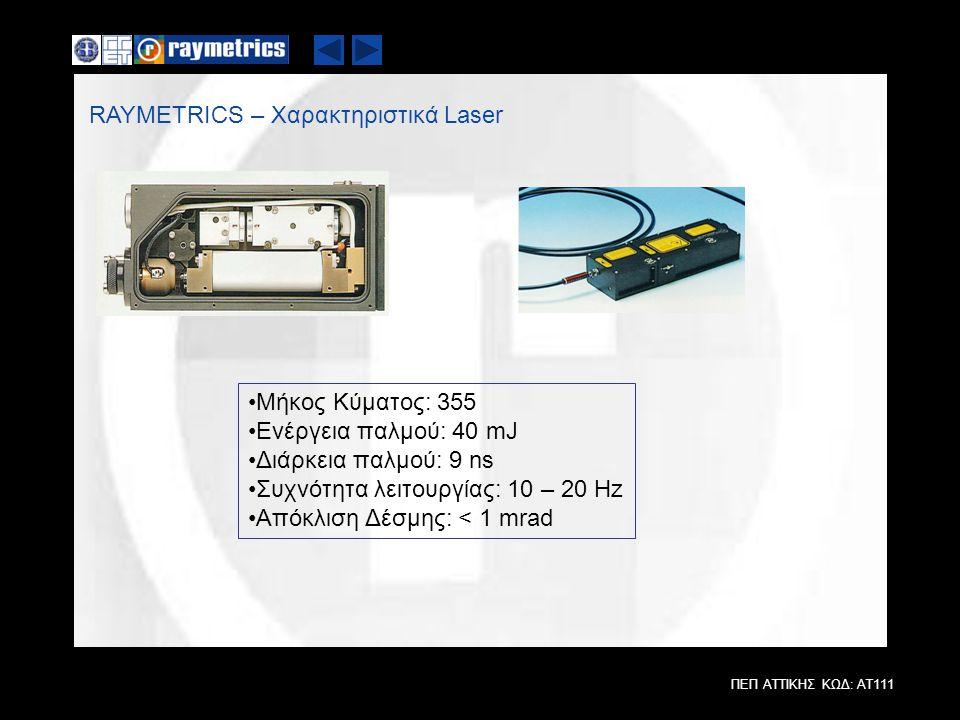 RAYMETRICS – Χαρακτηριστικά Laser
