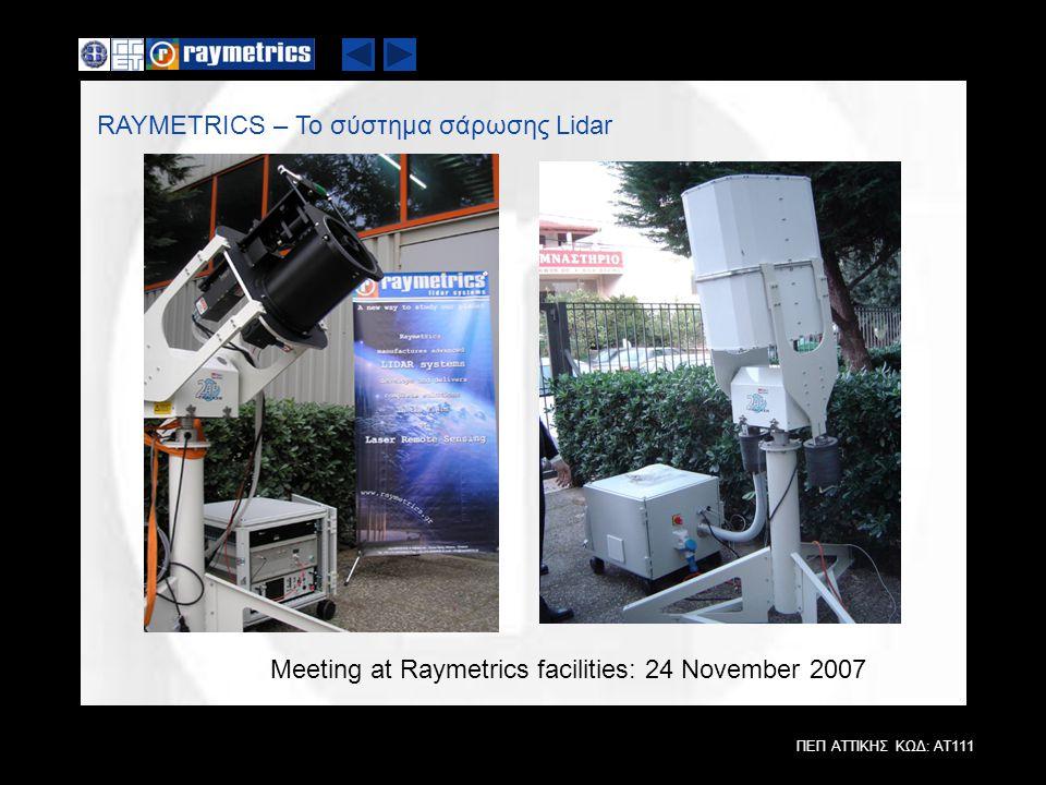RAYMETRICS – Το σύστημα σάρωσης Lidar