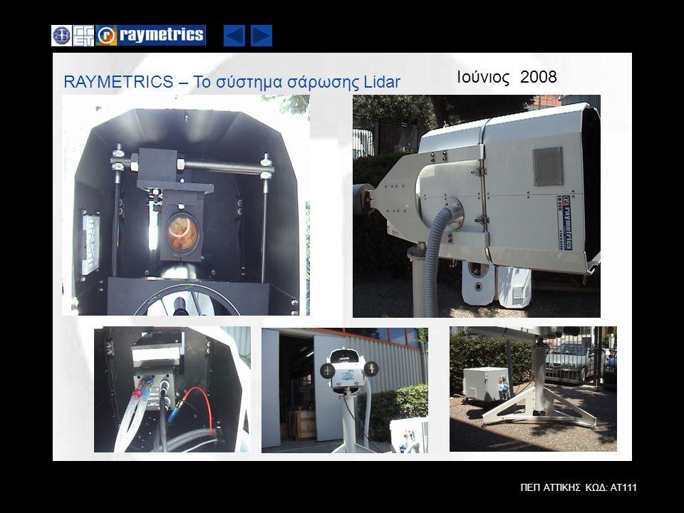 Ιούνιος 2008 RAYMETRICS – Το σύστημα σάρωσης Lidar