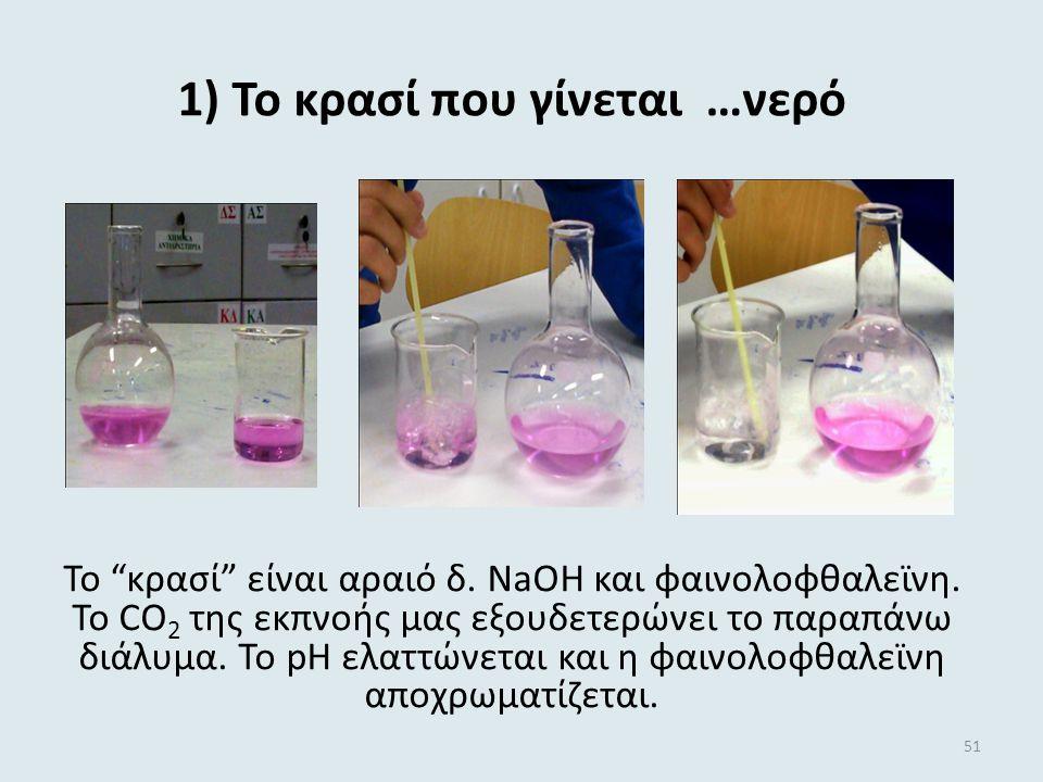 1) Το κρασί που γίνεται …νερό