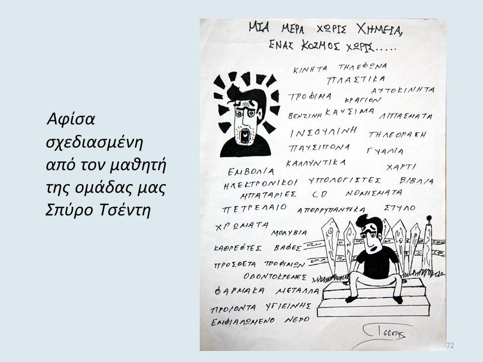 Αφίσα σχεδιασμένη από τον μαθητή της ομάδας μας Σπύρο Τσέντη
