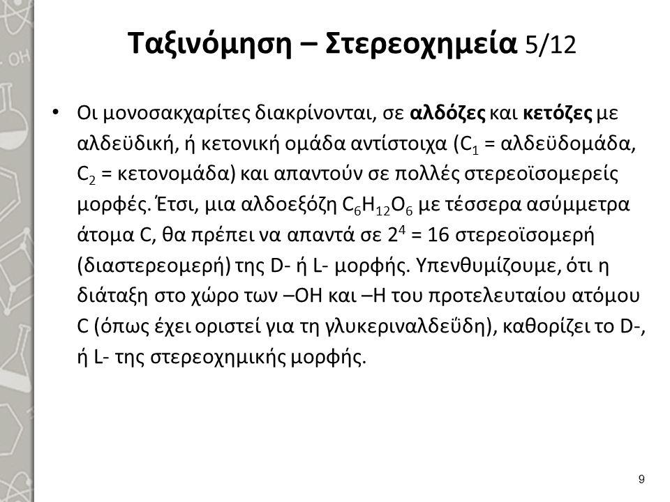 Ταξινόμηση – Στερεοχημεία 6/12