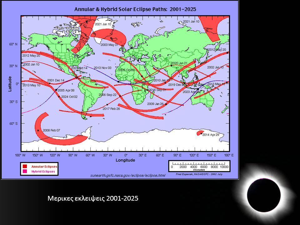 Μερικες εκλειψεις 2001-2025
