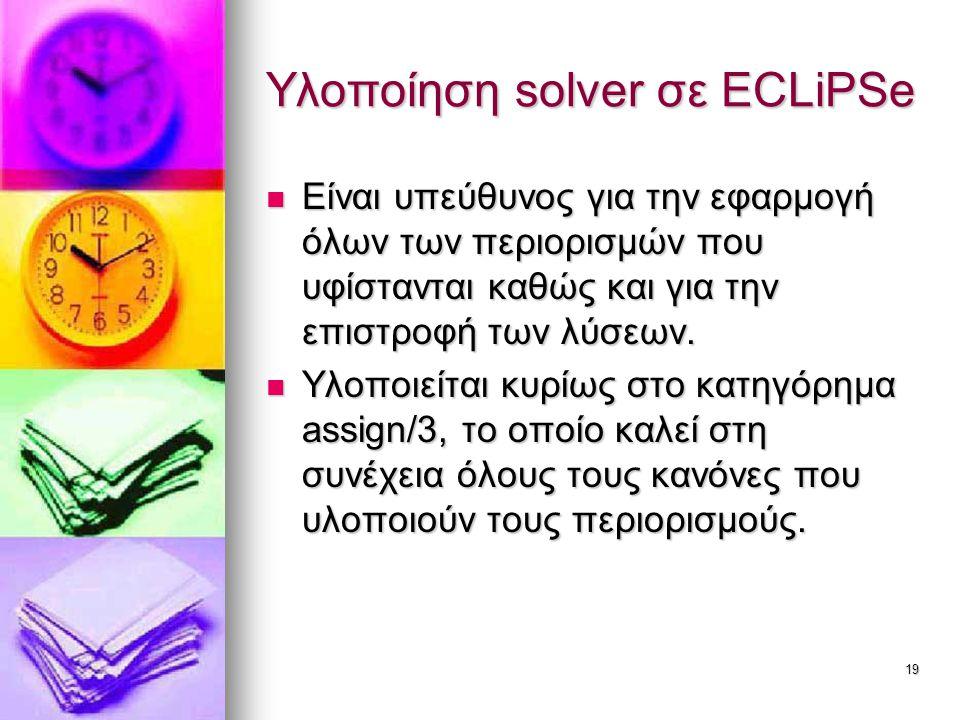 Υλοποίηση solver σε ECLiPSe
