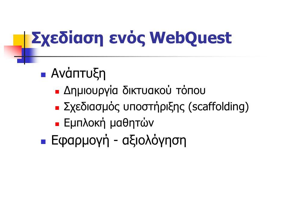 Σχεδίαση ενός WebQuest