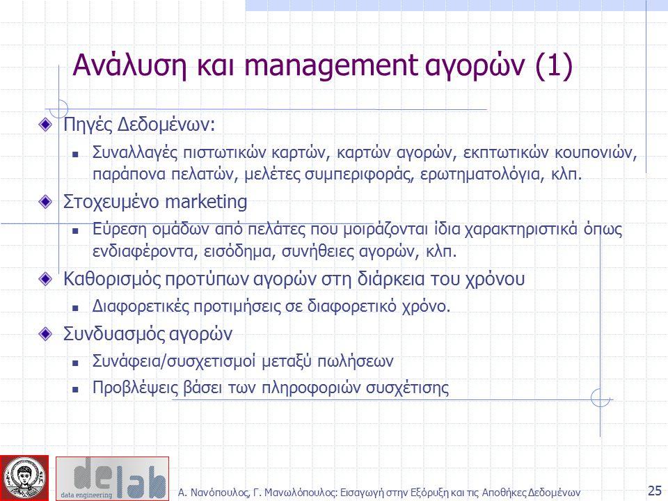Ανάλυση και management αγορών (1)