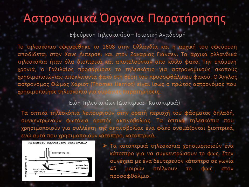 Αστρονομικά Όργανα Παρατήρησης