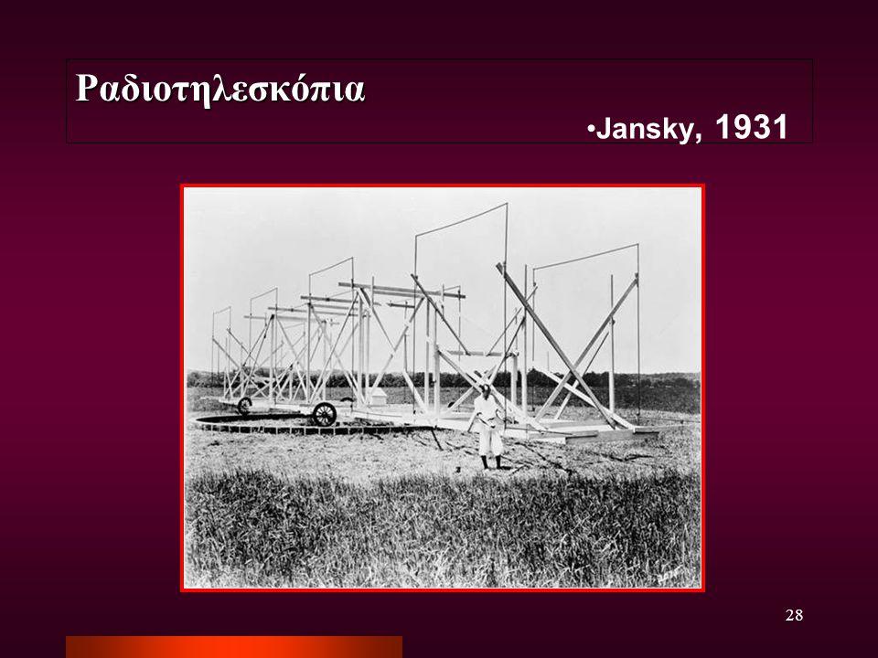 Ραδιοτηλεσκόπια Jansky, 1931