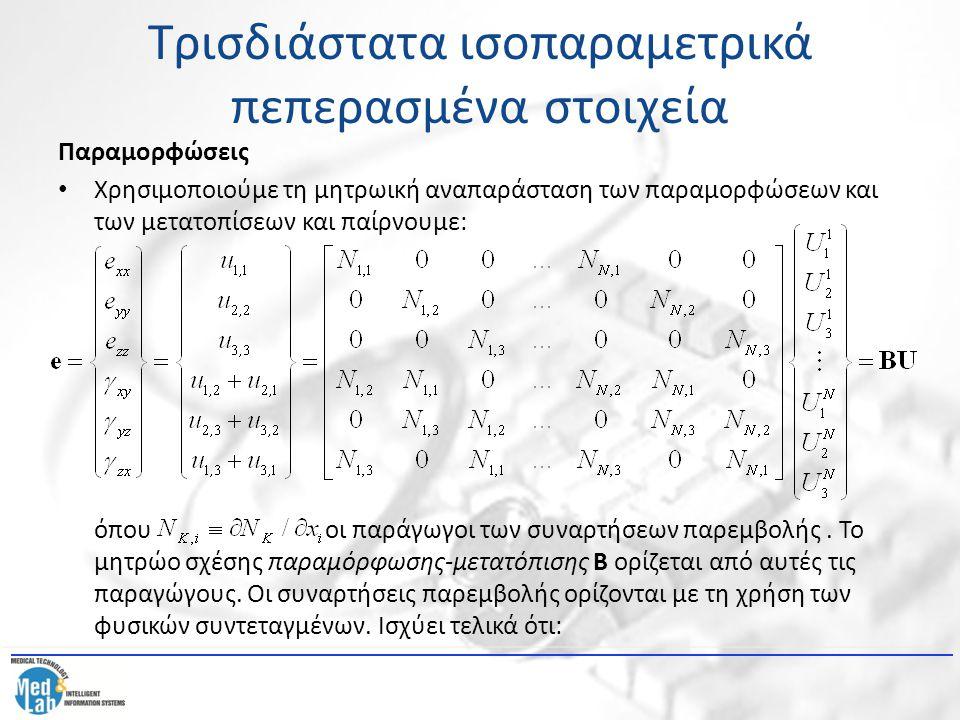 Τρισδιάστατα ισοπαραμετρικά πεπερασμένα στοιχεία