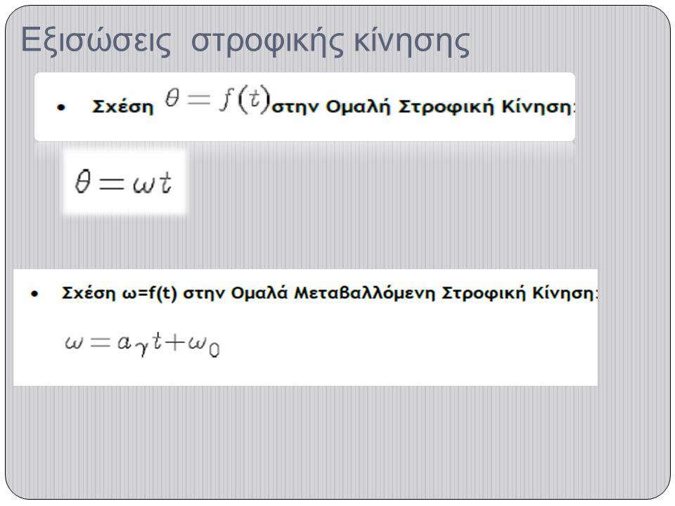 Εξισώσεις στροφικής κίνησης